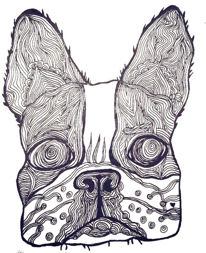 Kleurplaten Honden Voor Volwassenen.Kleurplaat Honden 32