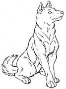 Coloring page Dogs