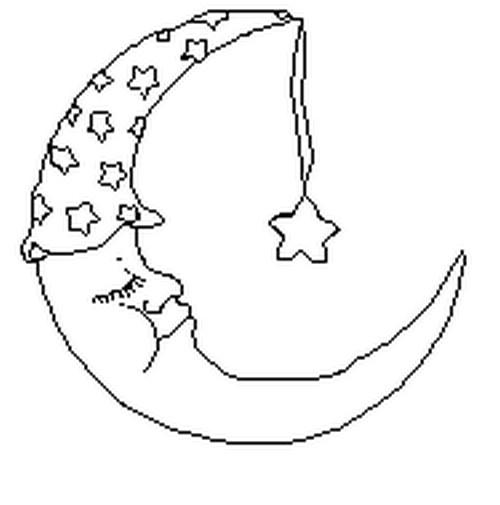 Dibujo para colorear estrellas sol luna 3 - Dessin de lune ...