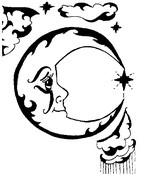 ぬりえ 星日月