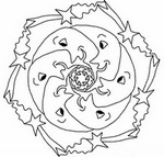 Målarbok Stjarnor Sol Mane