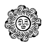 Coloring page Stars Sun Moon