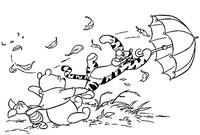 Tulostakaa värityskuvia Tiikeri lentää!