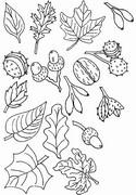 Tulostakaa värityskuvia Lehdet, pähkinät, tammenterhoja, ...