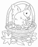 Coloring page Fall