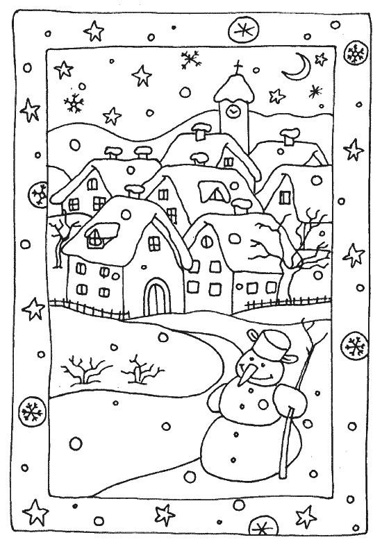 Malvorlagen Winter 7