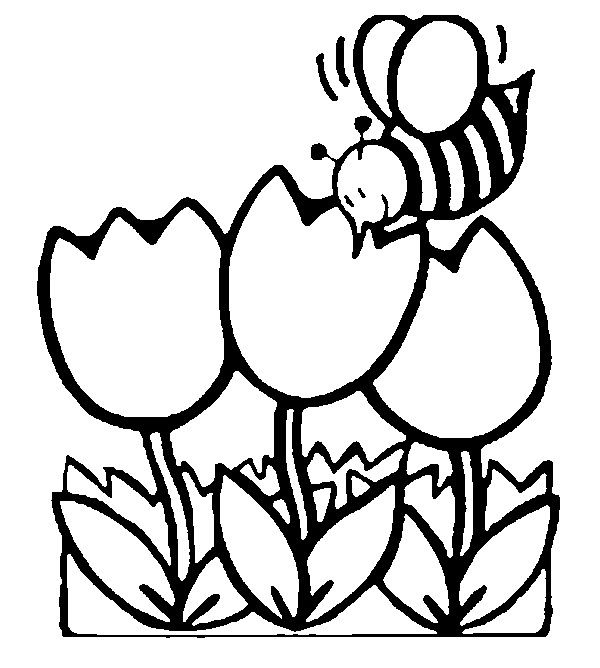 Dibujo para colorear Primavera 11