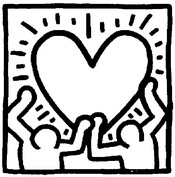 Coloring page Keith Haring: heart