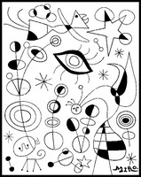 Kleurplaat Joan Miro