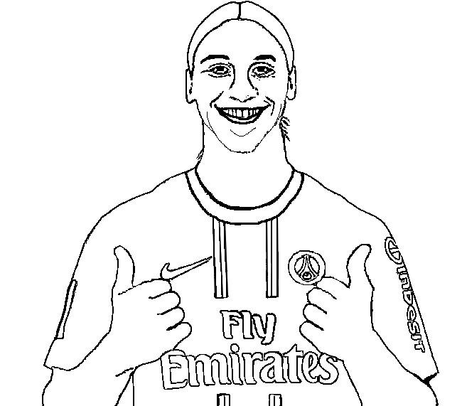 Disegno Da Colorare Calcio Zlatan Ibrahimovic 1