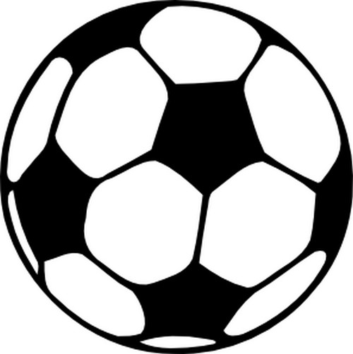 Coloring page Soccer  Soccer ball 04
