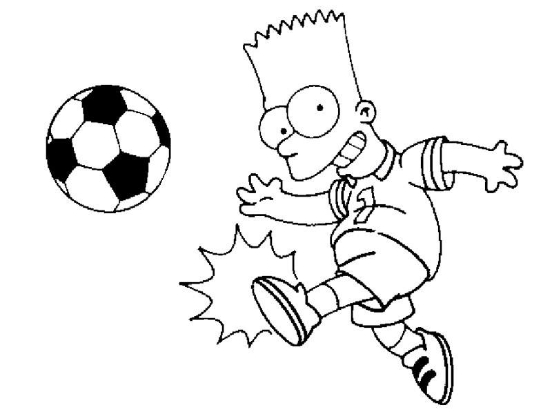 Dibujo para colorear Futbol 07