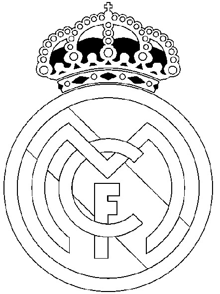 Coloring Page Soccer Real Madrid Badge 24
