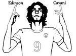 Desenho para colorir Edinson Cavani