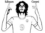 Kleurplaat Edinson Cavani