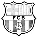 Coloring page FC Barcelona badge