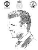 Kleurplaat David Beckham