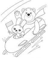 Coloring page Winter Sports