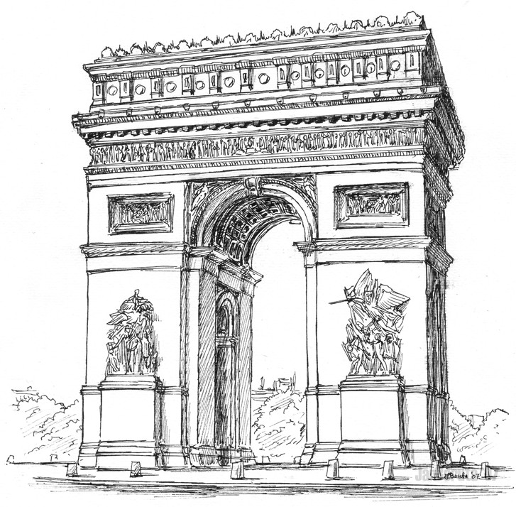 coloring page europa france paris 2