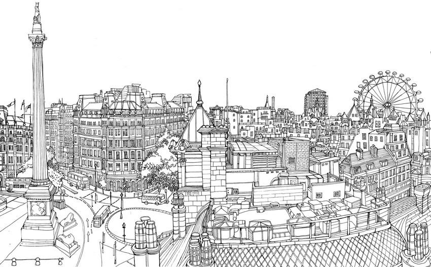Immagini Di Londra Da Colorare.Disegno Da Colorare Europa Inghilterra Londra 3