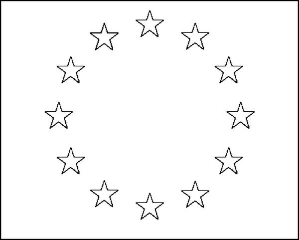 Dibujo Para Colorear Europa Bandera Europa 4
