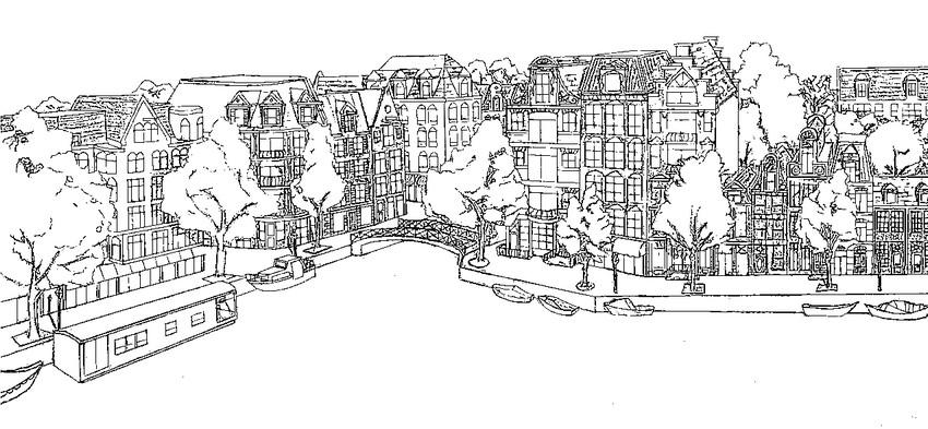 Dibujo para colorear Europa : Países Bajos - Amsterdam 5