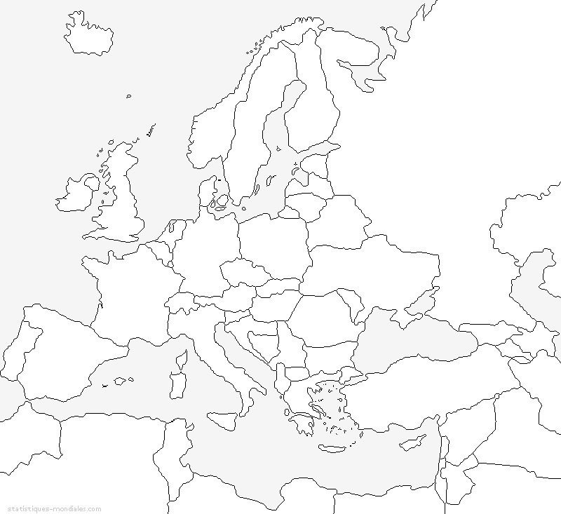 Disegno da colorare europa mappa dell 39 europa 8 for Cartina europa da colorare