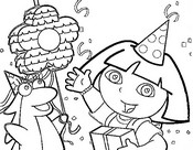 Coloring page Birthday