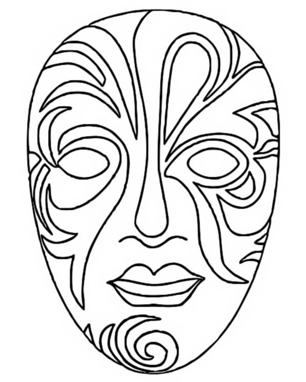 Desenho Para Colorir Carnaval 3