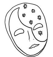 Tulostakaa värityskuvia Mask Carnival