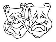 Tulostakaa värityskuvia Maskit