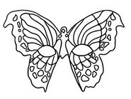 Tulostakaa värityskuvia Mask Butterfly