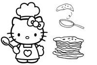 Tulostakaa värityskuvia Kynttilänpäivä Hello Kitty