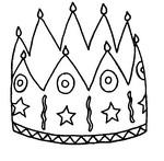 Kolorowanka Korona na Trzech Króli