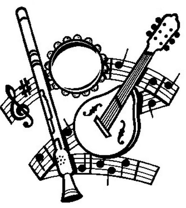 Dibujos para colorear Fiesta de la musica Dibujos para imprimir