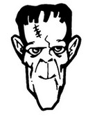 Coloring page Frankenstein