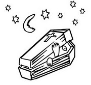 Coloring page Coffin
