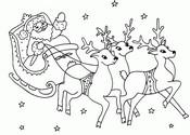 Malebøger Julemandens slæde