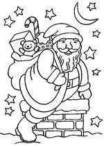 Malebøger Santa på skorstenen