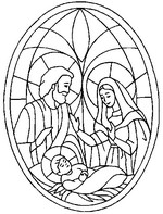 Malebøger Jesus, Maria, Josef