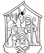 Malebøger Julen krybbe