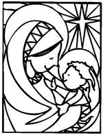 Malebøger Maria og Jesus