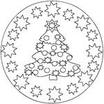 Malebøger Mandala jul