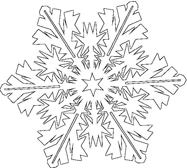 Malvorlagen Schneeflocken 1