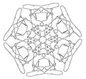 Disegno da colorare Fiocchi di neve