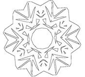 Malvorlagen Schneeflocken
