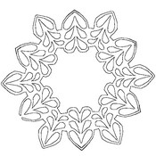 Desenho para colorir Flocos de neve