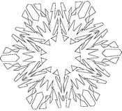 Coloring page Snowflake