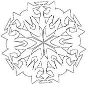 Tulostakaa värityskuvia Lumihiutale