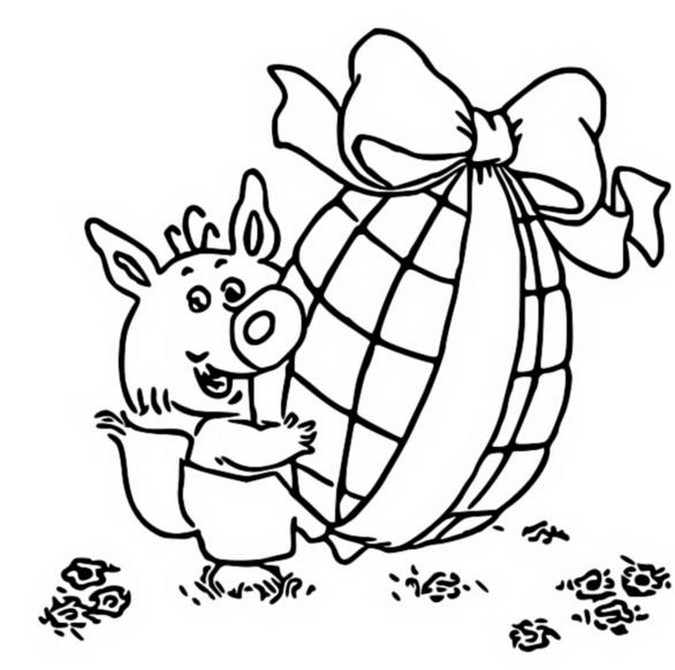 Coloring page Easter 2